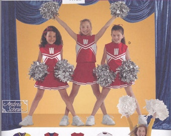4040 Simplicity Kids Cheerleading Costume Sewing Pattern Sizes 2-4-6