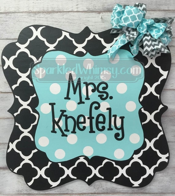 Classroom Decor Items : Items similar to personalized teacher sign decor