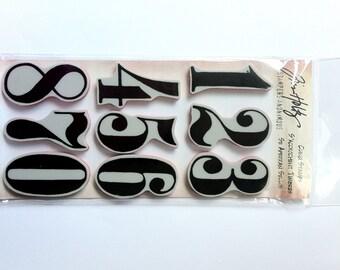 Tim Holtz Rubber Cling Stamp - Mini Numeric THJ006