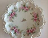 1909 MZ austria porcelain scalloped serving bowl, marked