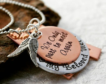 Memorial Necklace - Memorial Jewelry - Loss of Friend - Remembrance Jewelry - Memorial Gift - Loss of Loved One - In Memory of Jewelry