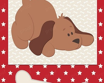 Puppy dog woof personalized bank