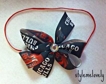 Chicago Bulls Bow Headband