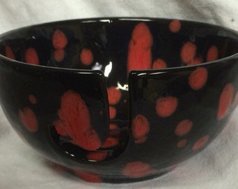 """A 3""""x6"""" Yarn Bowl, beautifully hand painted - READY TO SHIP"""