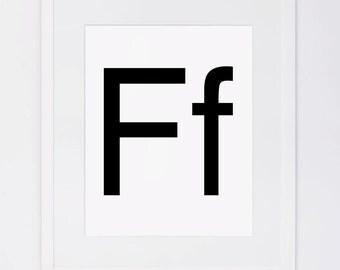 Alphabet letters, upper case and lower case, Digital Printable