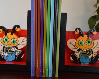 Book Buddy - Hunni Bee bookends (1 pair)