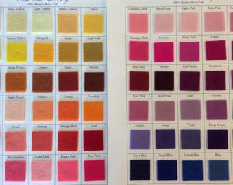 100% Wool Color Swatch for fascinator hat - Do not purchase this listing