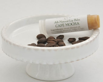 Cafe Mocha Natural Lip Balm, Coffee Lip Balm, Coffee Lovers Gift, Natural Skin Care, Chapstick, Skincare Products, Chocolate, Cocoa