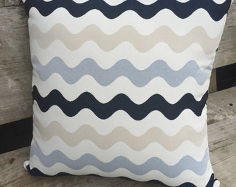 50cm Square Outdoor Cushion Cover/pillow in Warwick Coolum Outdoor Fabric in Merimbula Ash