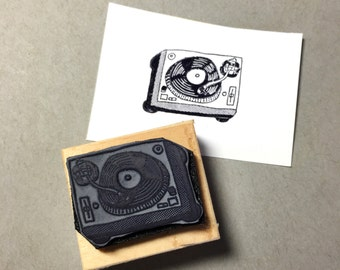 Turntable Rubber Stamp