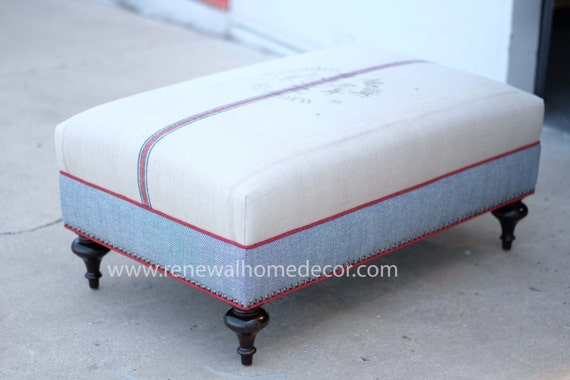 Custom Order Upholstered Custom Ottoman Coffee Table
