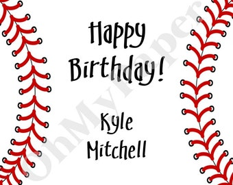 Baseball Gift Tags/Stickers - Set of 24