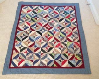 Remembrance Memory Patchwork Quilt  Lap Blanket Throw Custom Made