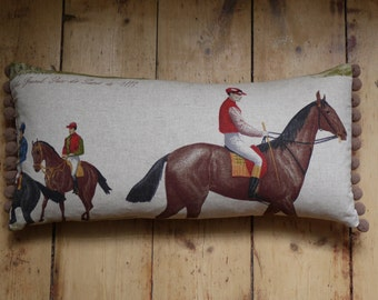 Classic horse racing cushion cover