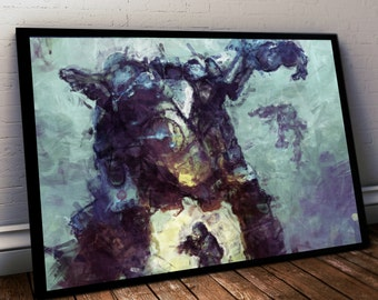 Titanfall Poster. Titan Painting Print. Mounted Canvas available on request details in listing