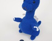 Blue Dragon Plush, Stuffed Dragon, Amigurumi Dragon, Crochet Amigurumi, Amigurumi Doll, Toy, Plush, Fantasy Art, Dragon Toy, Teacher Gift
