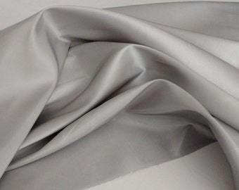 "Silver grey Platinum Taffeta  58-60"" wide by the yard, wedding or party decoration, sewing fabric, for woman dress. Free swatches"