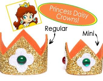 Princess Daisy Crown Super Mario Bros Princess Daisy Crown SINGLE Crown Cosplay Princess Daisy 2 Sizes Available