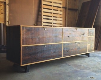 Modern Reclaimed Wood Credenza