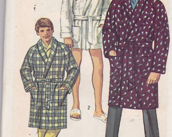 Simplicity 8470 Vintage Pattern Mens Robe In 3 Lengths Size 34-36 Uncut