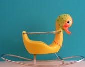 Vintage Mrs. Duck, Rocking Horse, Animal Rocker, Toy Design by Canova Italy, 1960s