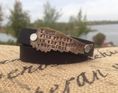 I will find refuge double leather wrap bracelet