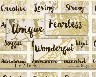 domino images beautiful words quotes digital collage sheet for pendants 1 x 2 inches printable instant download motivational sayings