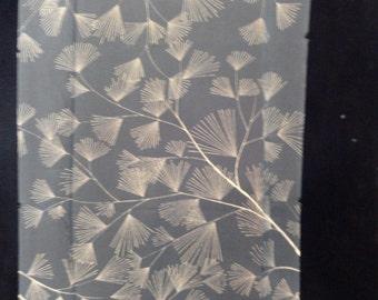 SF1540 Tan Branches on Black Silk