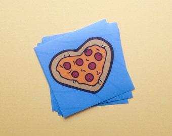 "Pizza My Heart Vinyl Sticker 3""x3"""