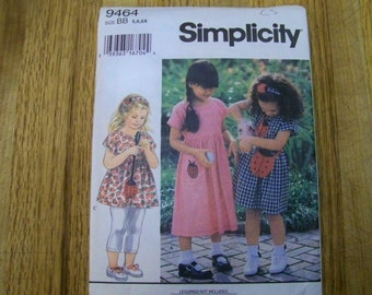 Simplicity Pattern - 9464 - Child's Dress Or Top - Size BB 5,6,6X