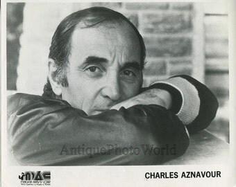 Charles Aznavour French chanson singer vintage photo