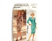 Women's Dress Pattern, Butterick 4914, Size 14, 16, 18, Fast & Easy, Vintage Uncut Pattern