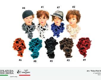 FILATURA DI CROSA Fancy Polar Yarn * Italian Designer Novelty Ruffle Yarn * Super Bulky * Wool, Acrylic, Polyamide * Discontinued * Rt 15.00