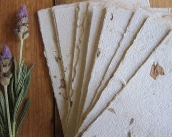 """16 Lavender Handmade paper sheets, Recycled paper, Flower petal paper, Decorative paper, Eco friendly craft paper, 3"""" x 4"""" (7.5 x 10.5cm)"""