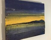 "Lake Sunset Wall Hanging 20"" x 16"""