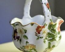 Porcelain Basket Vase Planter Royal Danube