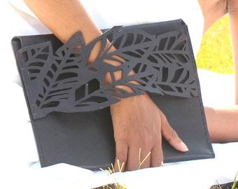 "Leather-clutch/leather handbag/iPad sleeve ""SAGER"""