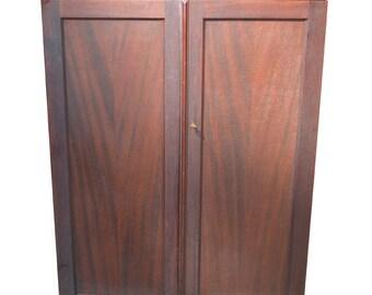 18110 *REDUCED PRICE* Mahogany Two Door Chiffonier Multi-Drawers