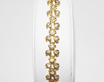 Joan Rivers Bracelet - Gold Tone with Crystals                          - S1359
