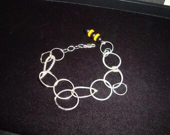 Strling Sillver Bakelite bracelet