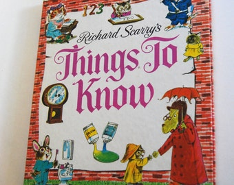 Vintage Children's Book, Richard Scarry's Things to Know