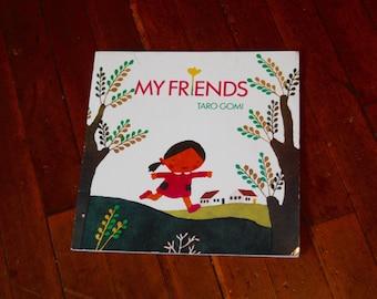 Vintage Children's Oversized Book, My Friends