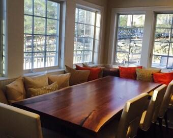 Live Edge Table Live Edge Black Walnut Table Maple Harvest Table Wood Slab  Tables