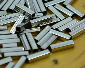 100 Pcs. Silver Color 2x2x8 mm Square Tube Spacers