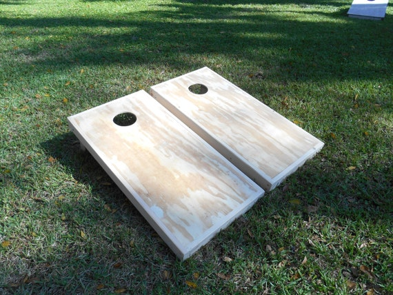 Regulation Unfinished Corn Hole Board Sets By