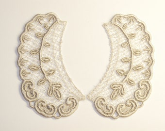 Lace Collar in SILVER for 18 inch dolls such as American Girl #CR30