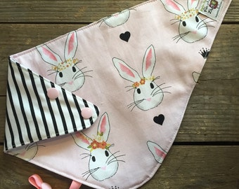 reversible and waterproof bandana bib, Rabbit and other side may be different...