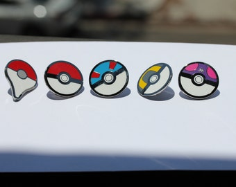 Pokeballs and Pokemon Go! Map Pin Set