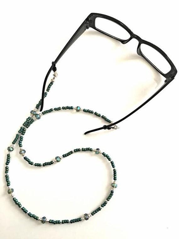 Emerald Green Eyeglass Frames : Emerald green eyeglass chain eyeglass holder eyeglass