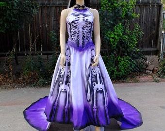 Sugar Skull Costume // Dia de los Muertos Bride // Skeleton dress // Halloween Costume // Spanish Dancer // Day of the Dead Dress